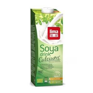 Bautura vegetala de soia cu calciu eco 1L Lima