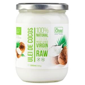 Ulei de cocos virgin raw bio 500ml OBIO