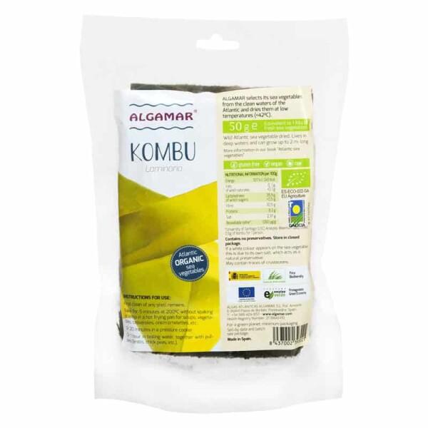 Alge Kombu (Laminaria) raw bio 50g